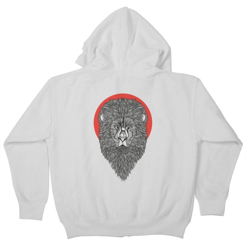 Lion Kids Zip-Up Hoody by topodos's Artist Shop