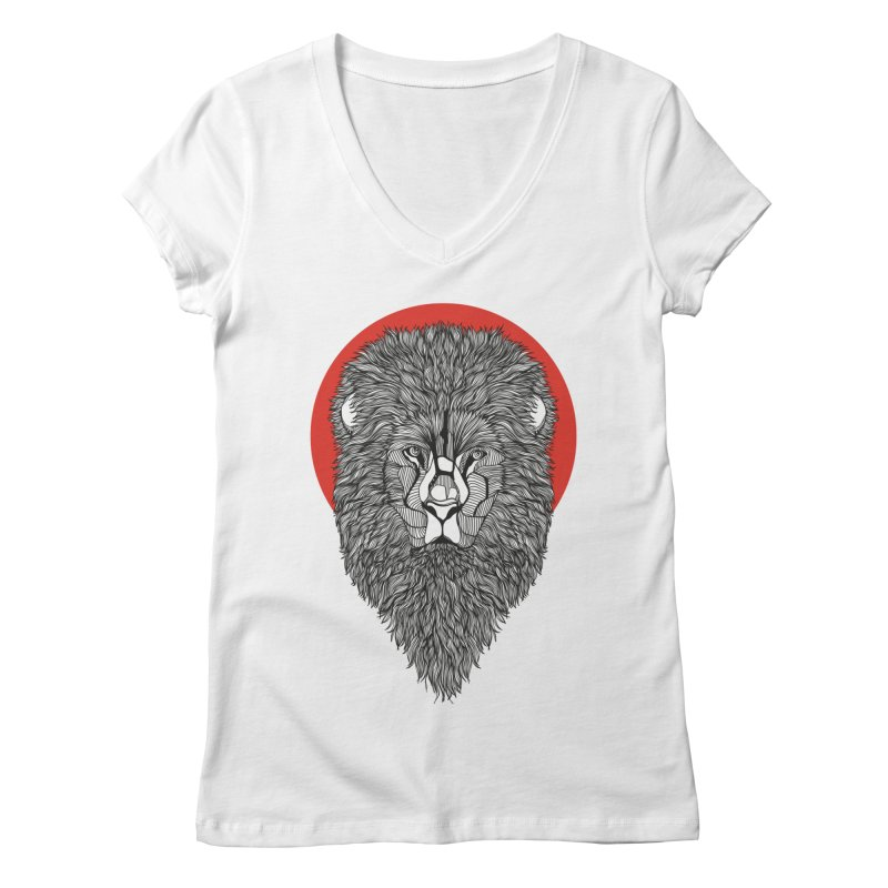 Lion Women's V-Neck by topodos's Artist Shop
