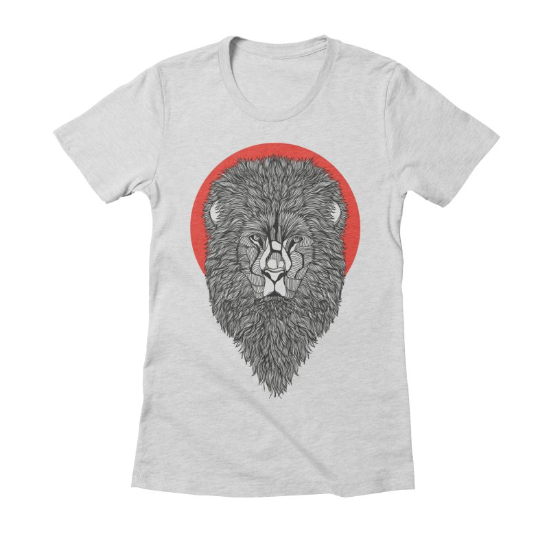 Lion Women's Fitted T-Shirt by topodos's Artist Shop