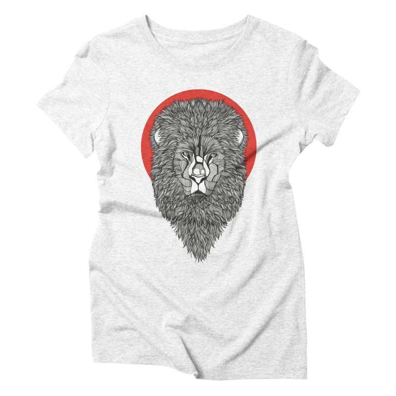Lion Women's Triblend T-shirt by topodos's Artist Shop