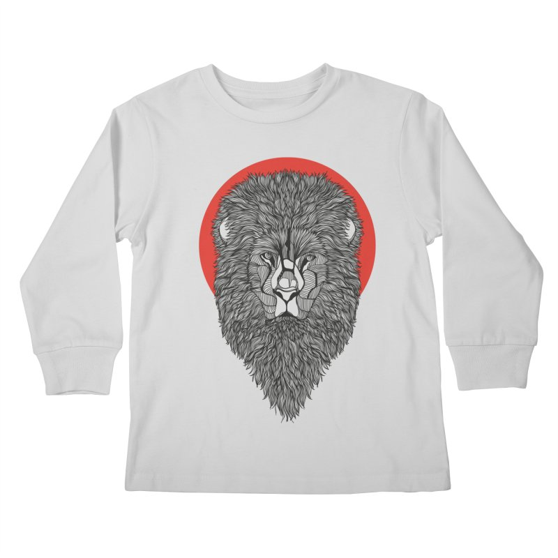 Lion Kids Longsleeve T-Shirt by topodos's Artist Shop