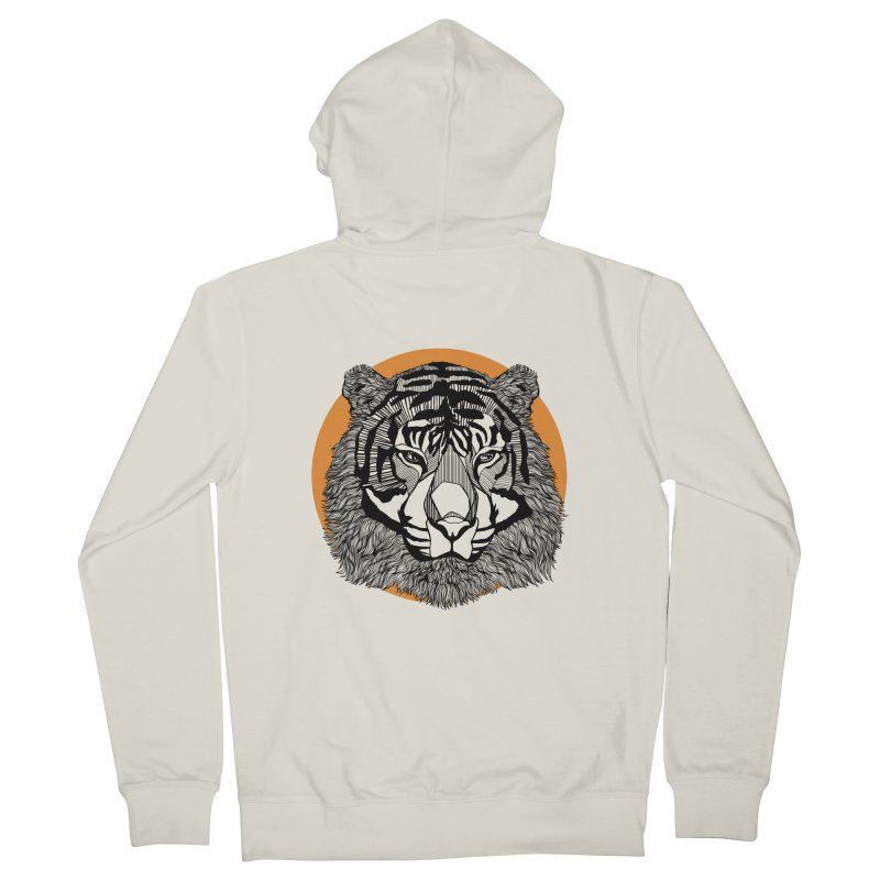Tiger Women's Zip-Up Hoody by topodos's Artist Shop