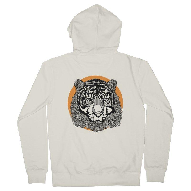 Tiger Men's Zip-Up Hoody by topodos's Artist Shop