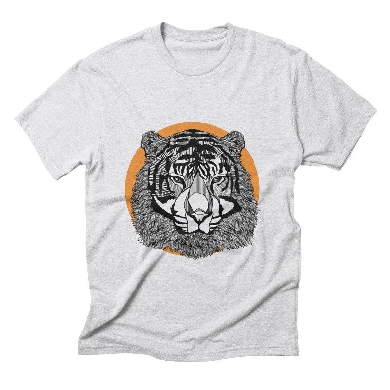 Tiger Men's Triblend T-shirt by topodos's Artist Shop