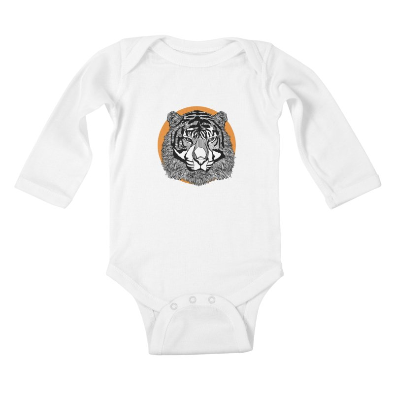 Tiger Kids Baby Longsleeve Bodysuit by topodos's Artist Shop