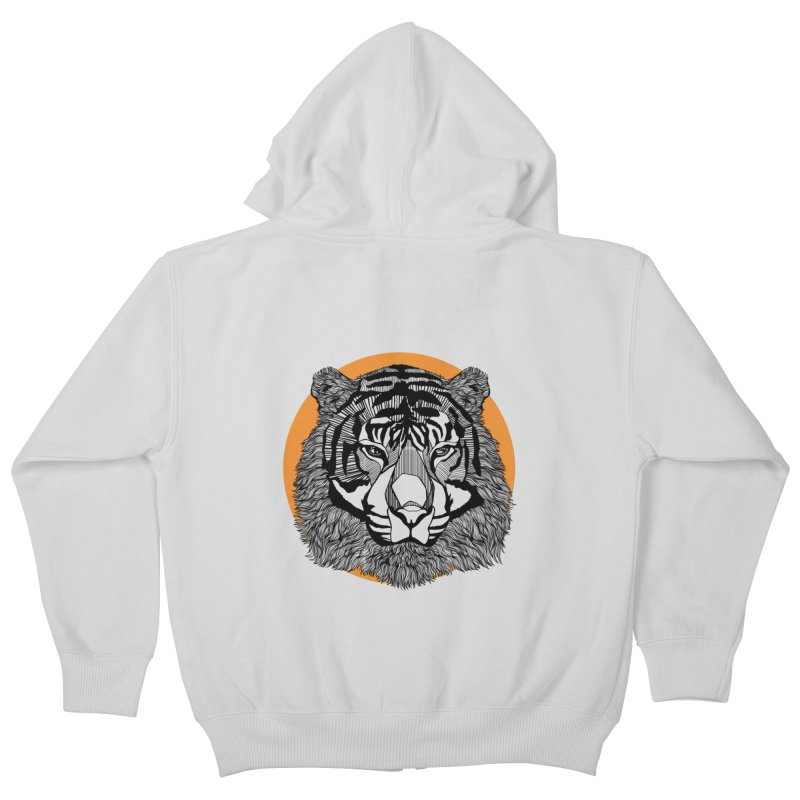 Tiger Kids Zip-Up Hoody by topodos's Artist Shop
