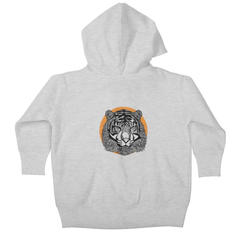 Tiger Kids Baby Zip-Up Hoody by topodos's Artist Shop