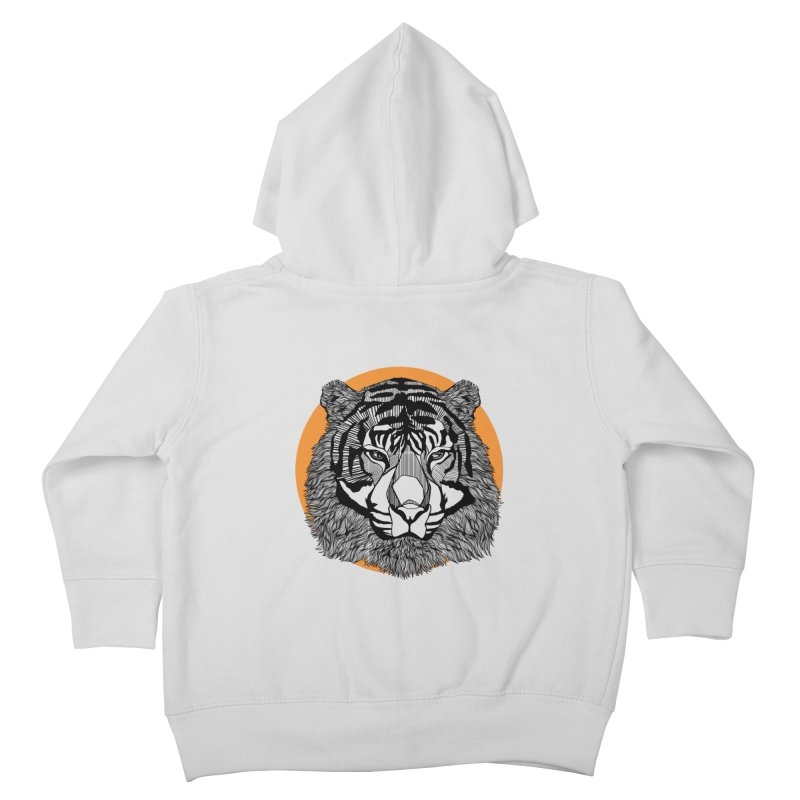 Tiger Kids Toddler Zip-Up Hoody by topodos's Artist Shop