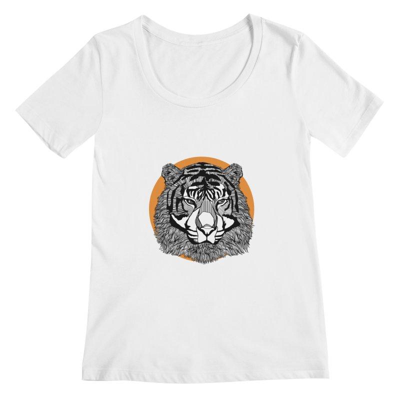 Tiger Women's Scoopneck by topodos's Artist Shop