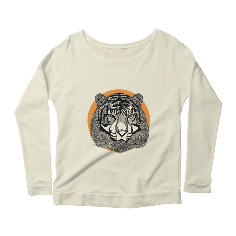 Tiger Women's Longsleeve Scoopneck  by topodos's Artist Shop