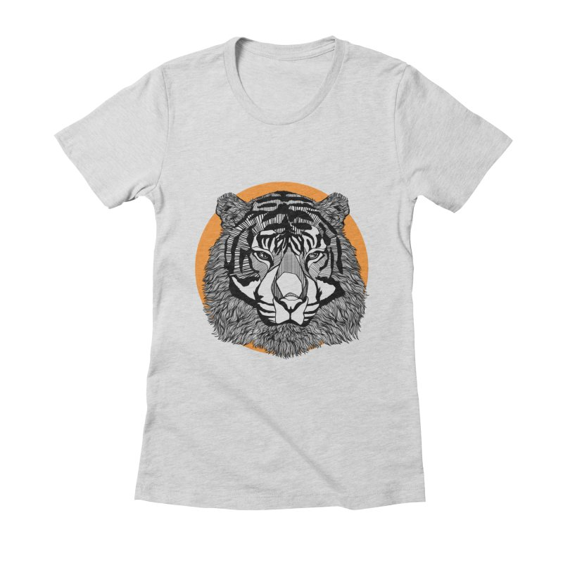Tiger Women's Fitted T-Shirt by topodos's Artist Shop