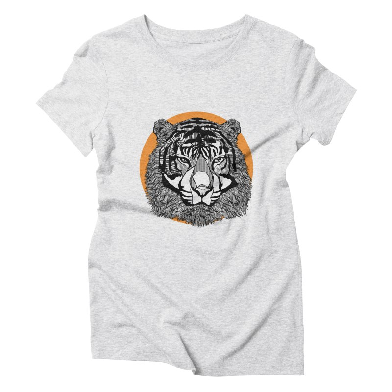 Tiger Women's Triblend T-Shirt by topodos's Artist Shop