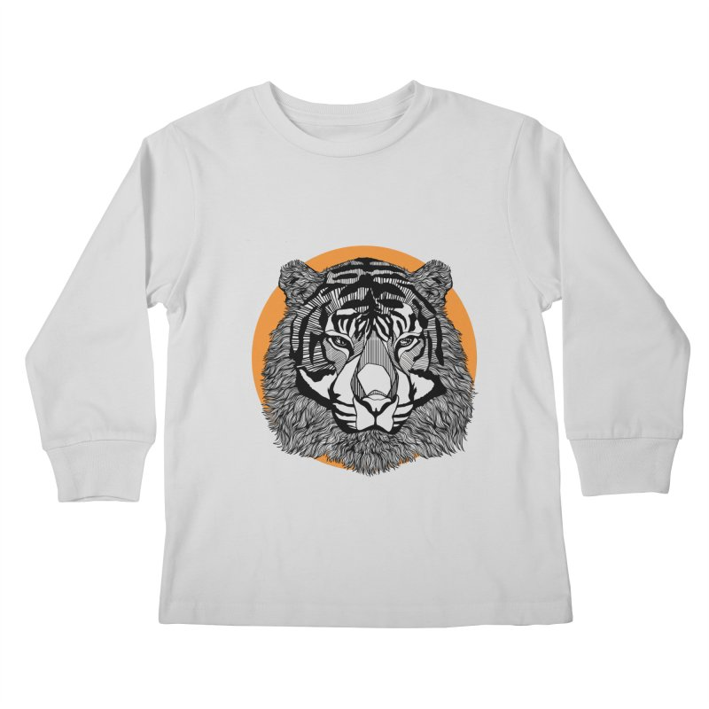 Tiger Kids Longsleeve T-Shirt by topodos's Artist Shop