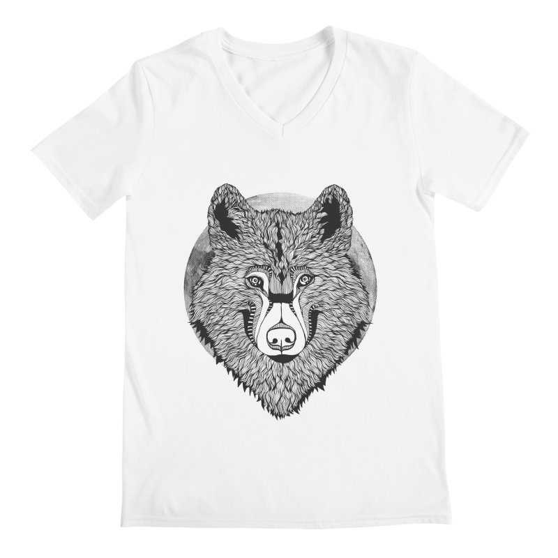 Wolf Men's V-Neck by topodos's Artist Shop