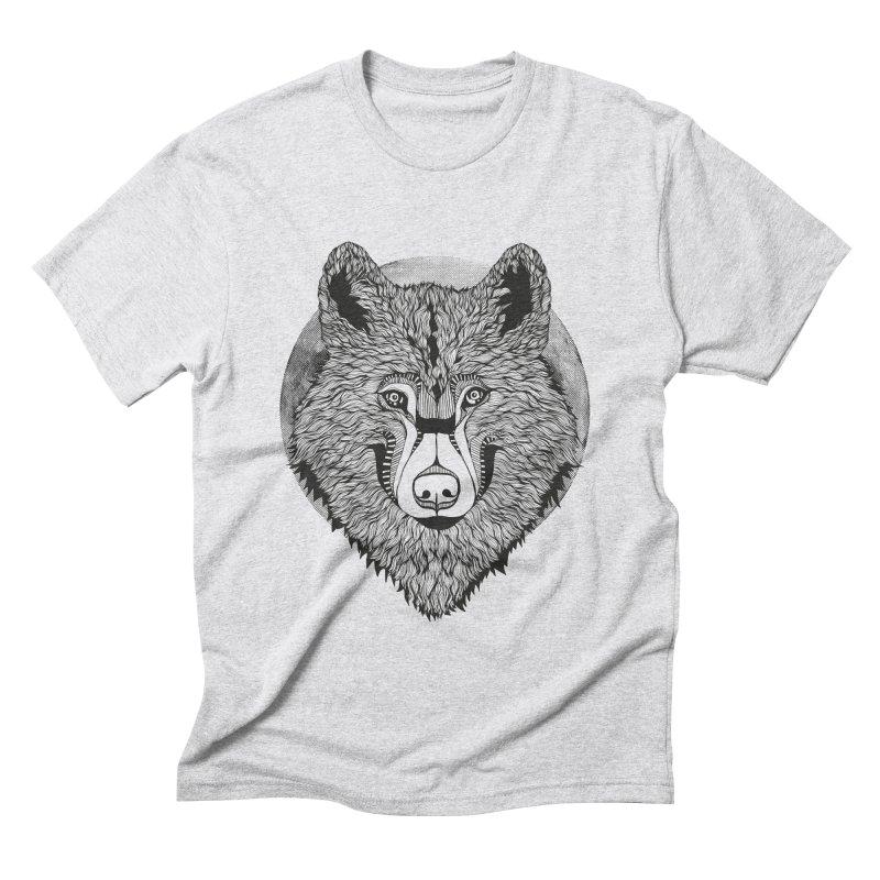 Wolf Men's Triblend T-shirt by topodos's Artist Shop