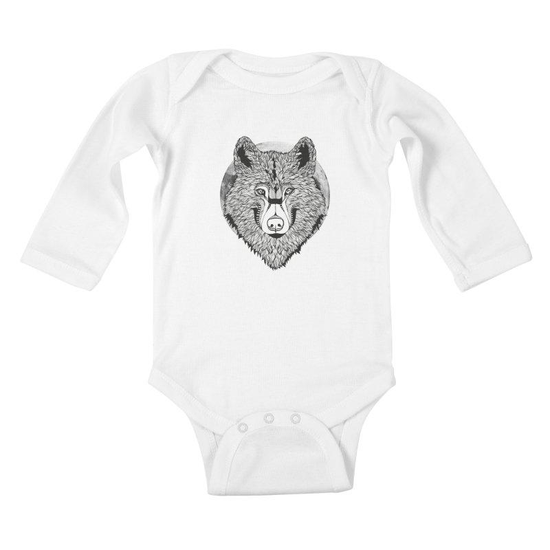 Wolf Kids Baby Longsleeve Bodysuit by topodos's Artist Shop