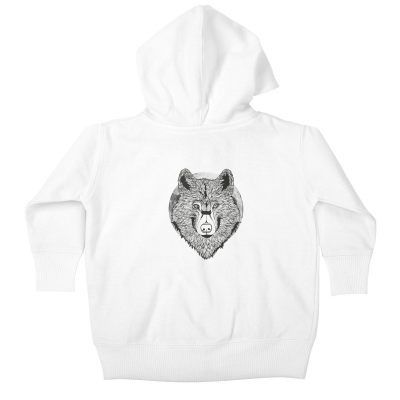 Wolf Kids Baby Zip-Up Hoody by topodos's Artist Shop