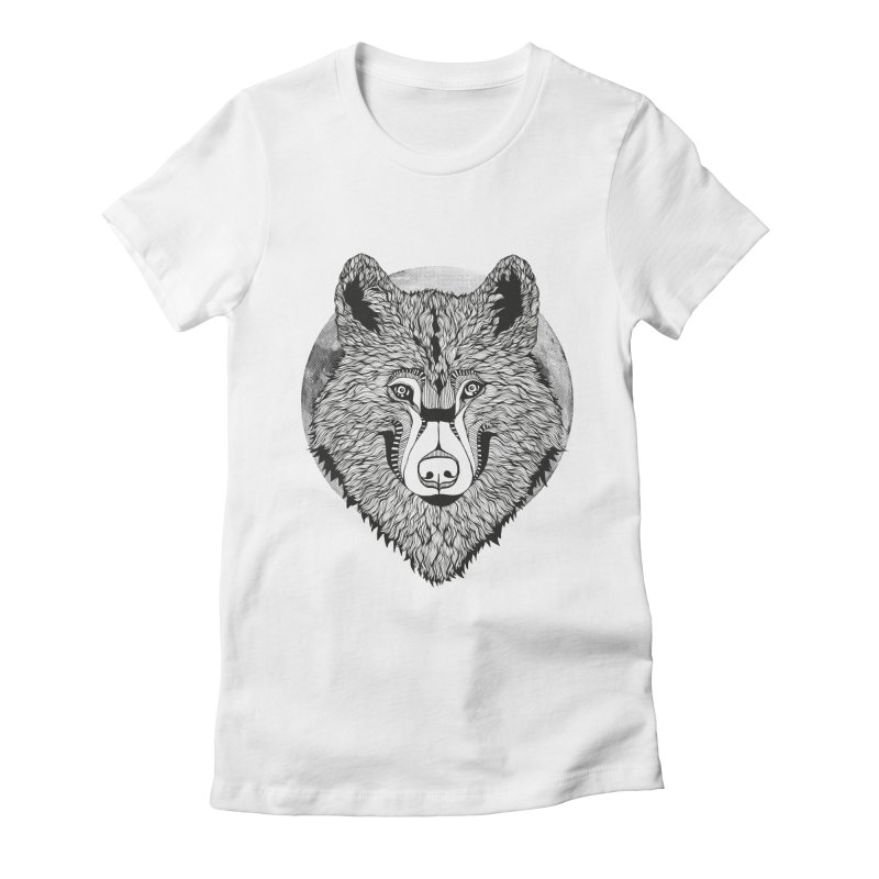 Wolf Women's Fitted T-Shirt by topodos's Artist Shop