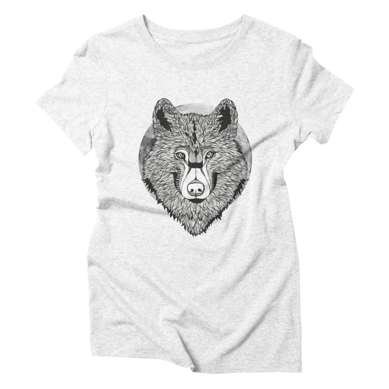 Wolf Women's Triblend T-shirt by topodos's Artist Shop