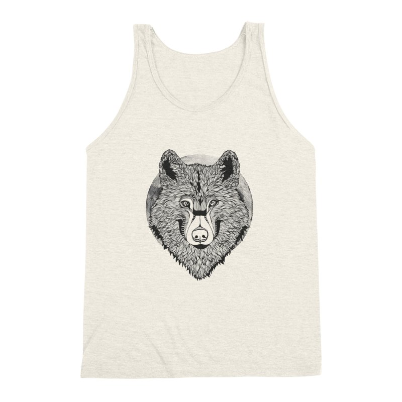 Wolf Men's Triblend Tank by topodos's Artist Shop
