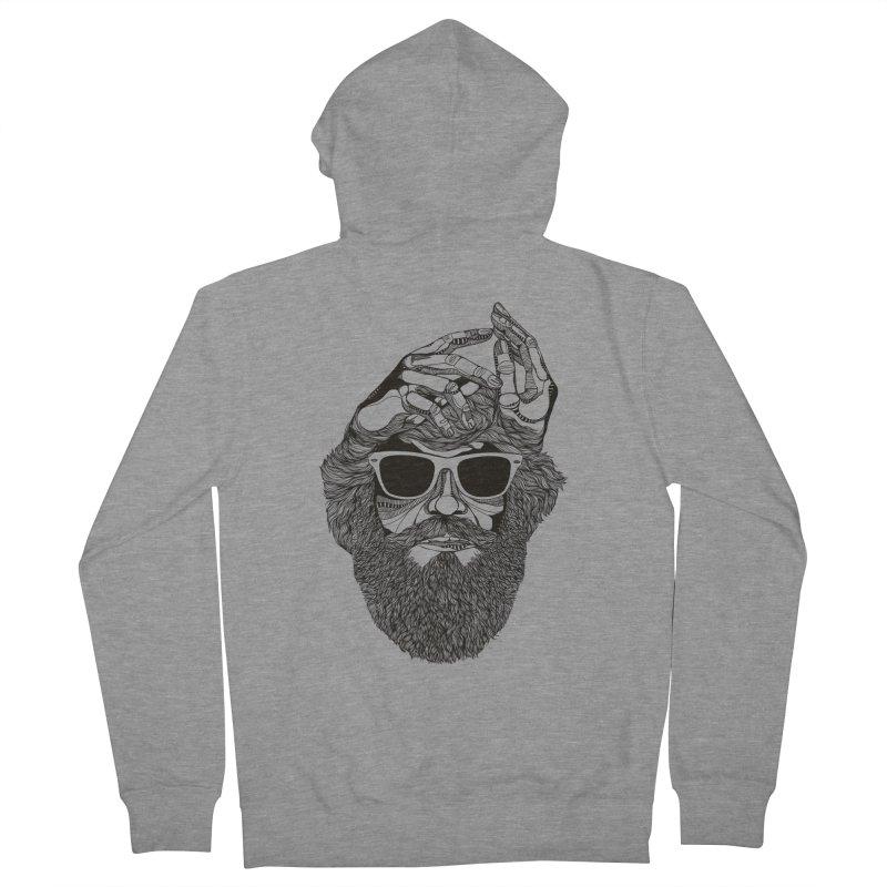 Overbeard Men's Zip-Up Hoody by topodos's Artist Shop