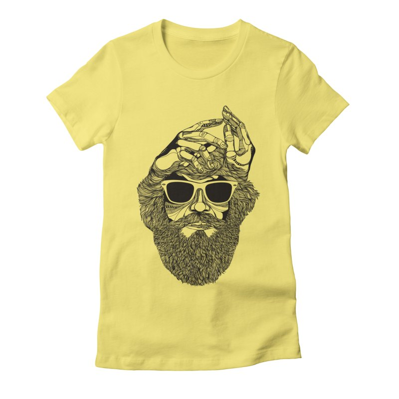 Overbeard Women's Fitted T-Shirt by topodos's Artist Shop