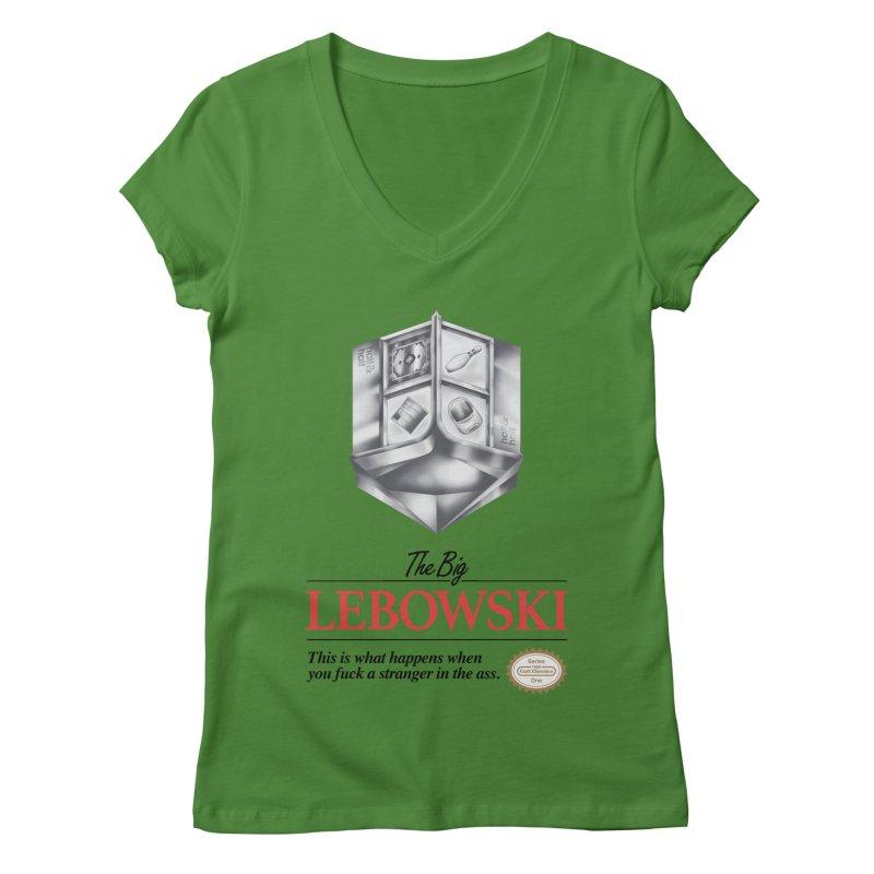 The Legend of Lebowski Women's V-Neck by torakamikaze's Artist Shop