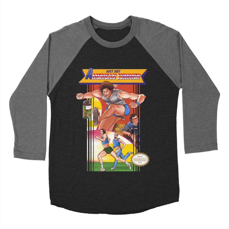 Wet Hot American Track And Field Men's Baseball Triblend T-Shirt by torakamikaze's Artist Shop