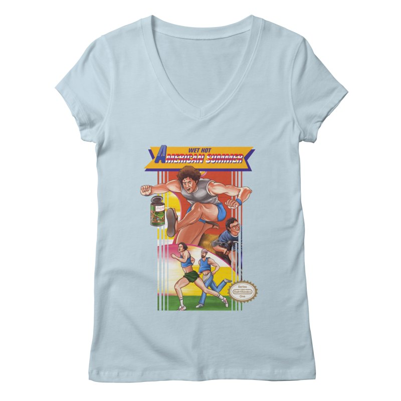 Wet Hot American Track And Field Women's V-Neck by torakamikaze's Artist Shop