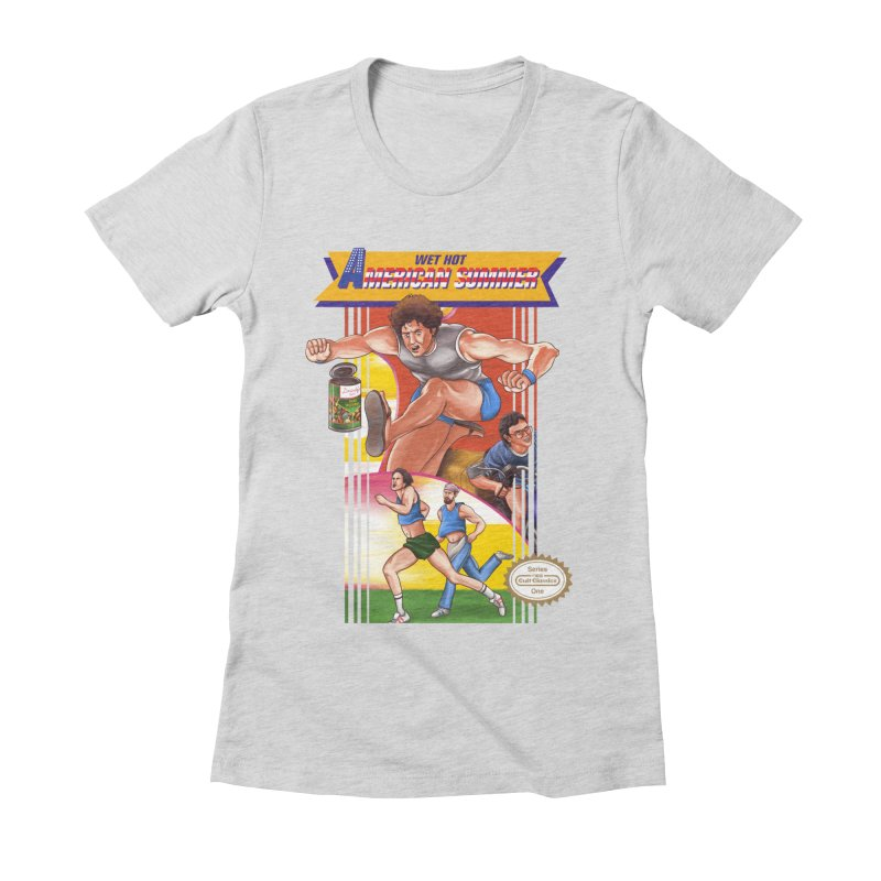 Wet Hot American Track And Field Women's Fitted T-Shirt by torakamikaze's Artist Shop