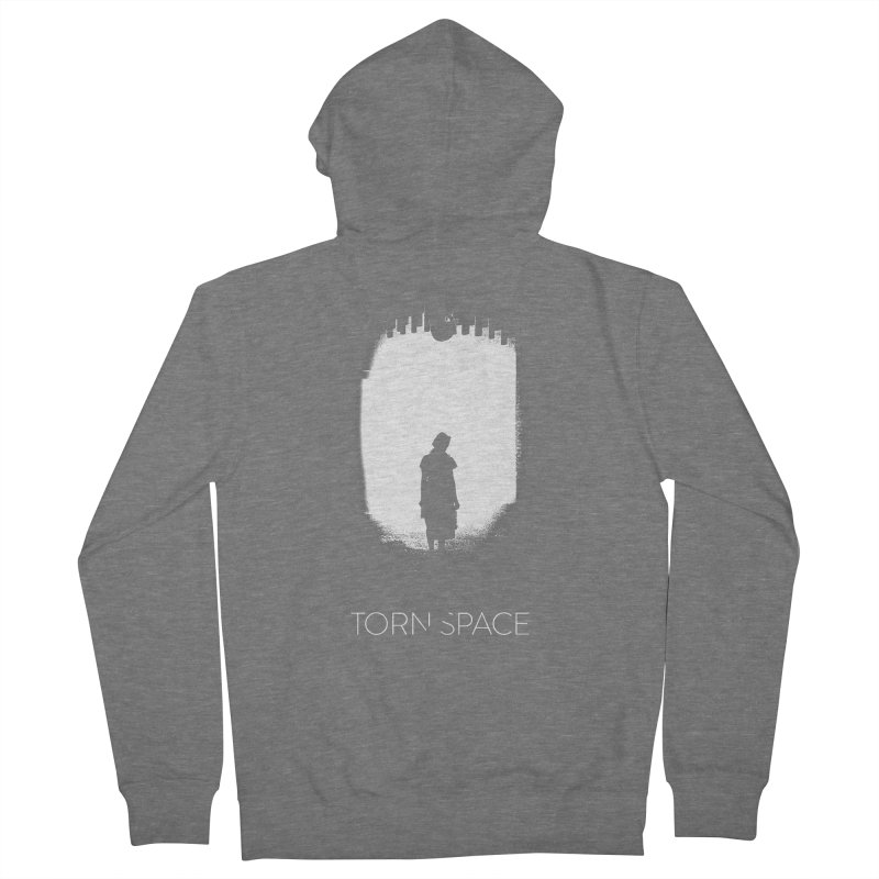Furnace Silhouette Men's Zip-Up Hoody by Torn Space Theater Merch