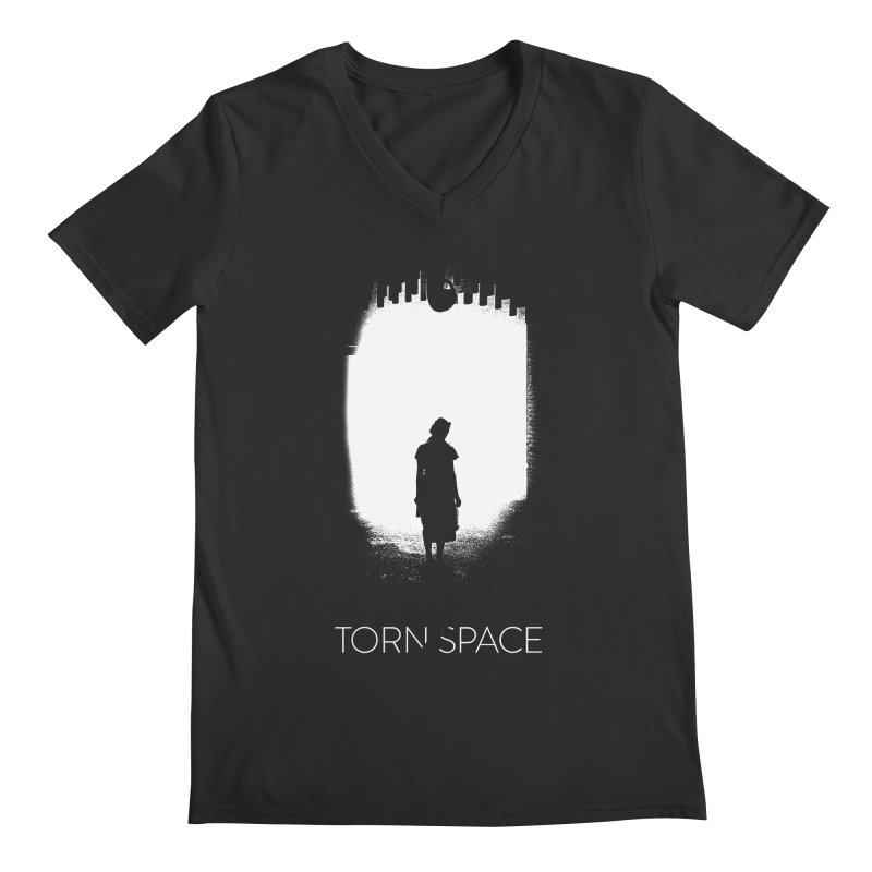 Furnace Silhouette Men's Regular V-Neck by Torn Space Theater Merch
