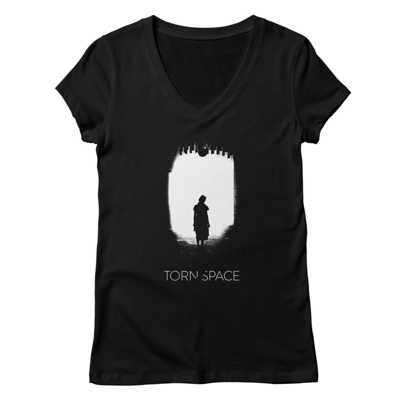 Furnace Silhouette Women's V-Neck by Torn Space Theater Merch