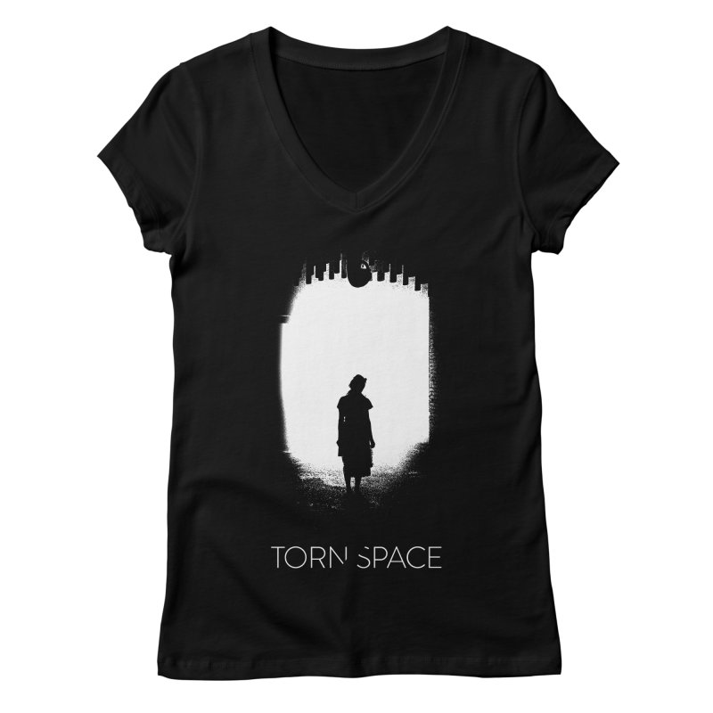 Furnace Silhouette Women's Regular V-Neck by Torn Space Theater Merch