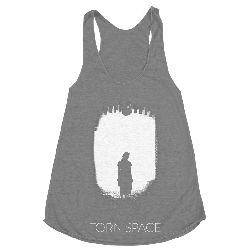 Furnace Silhouette Women's Racerback Triblend Tank by Torn Space Theater Merch