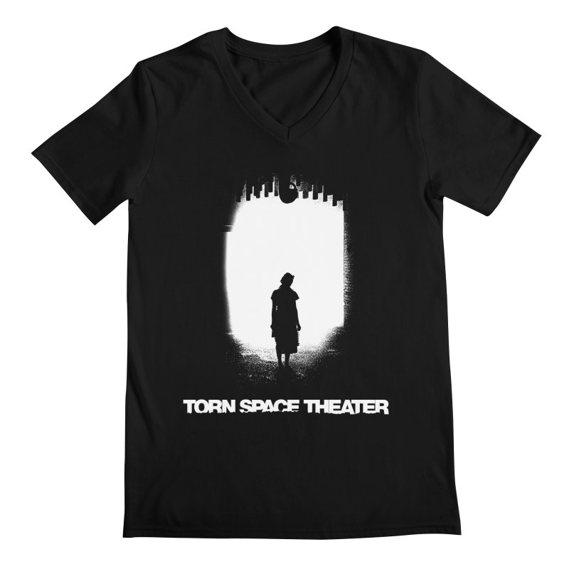 Furnace Silhouette Men's V-Neck by Torn Space Theater's Artist Shop