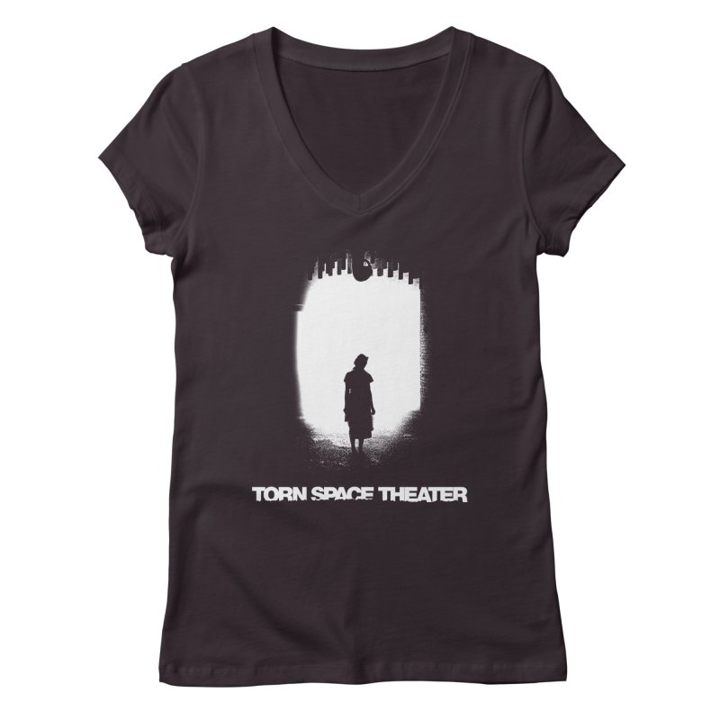 Furnace Silhouette Women's V-Neck by Torn Space Theater's Artist Shop
