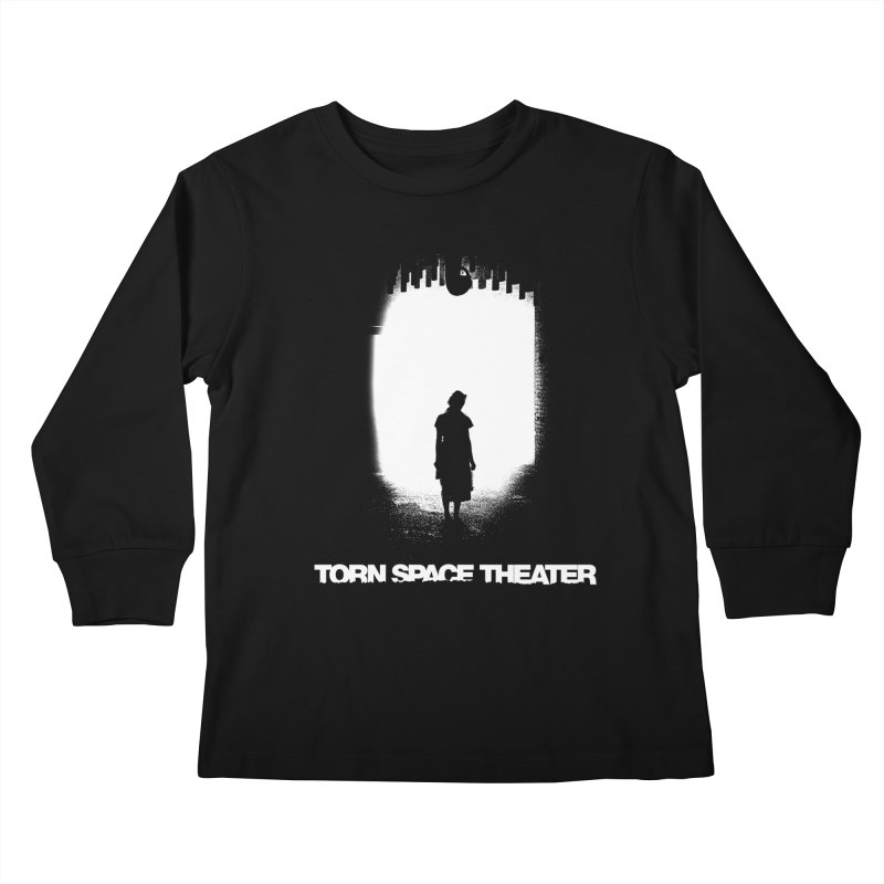 Furnace Silhouette Kids Longsleeve T-Shirt by Torn Space Theater's Artist Shop