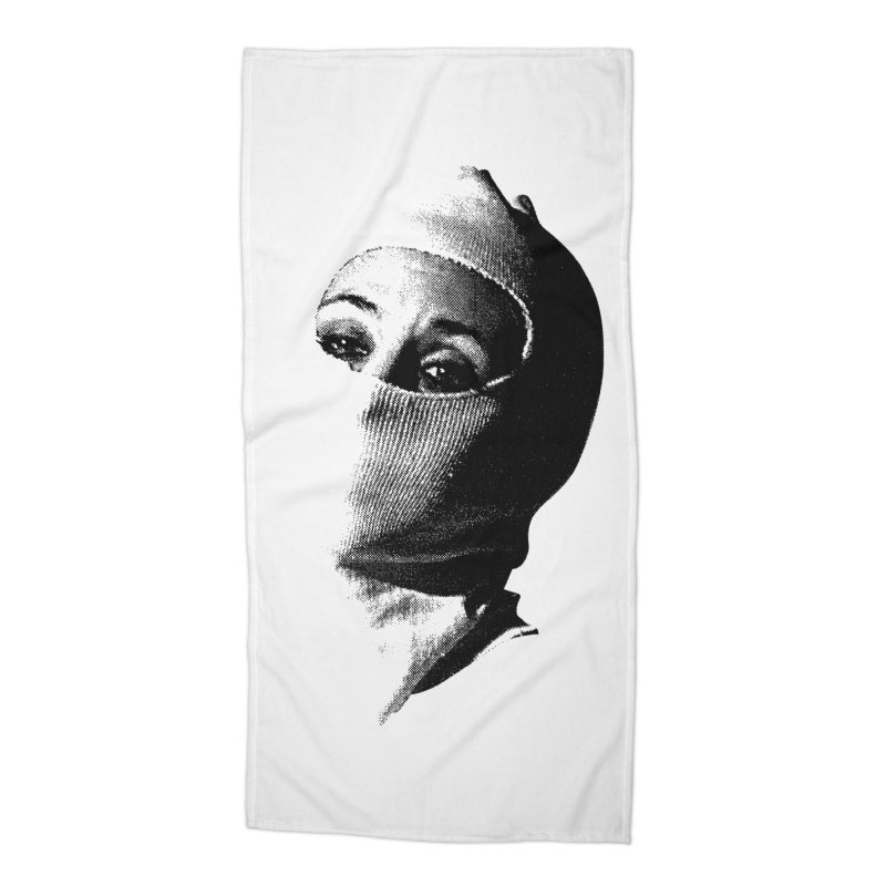 Balaklava Accessories Beach Towel by Torn Space Theater Merch