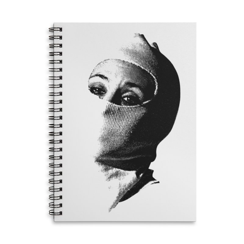 Balaklava Accessories Lined Spiral Notebook by Torn Space Theater Merch