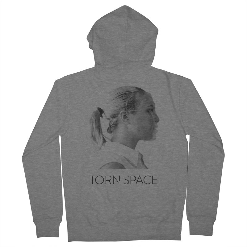 Athlete Men's French Terry Zip-Up Hoody by Torn Space Theater Merch