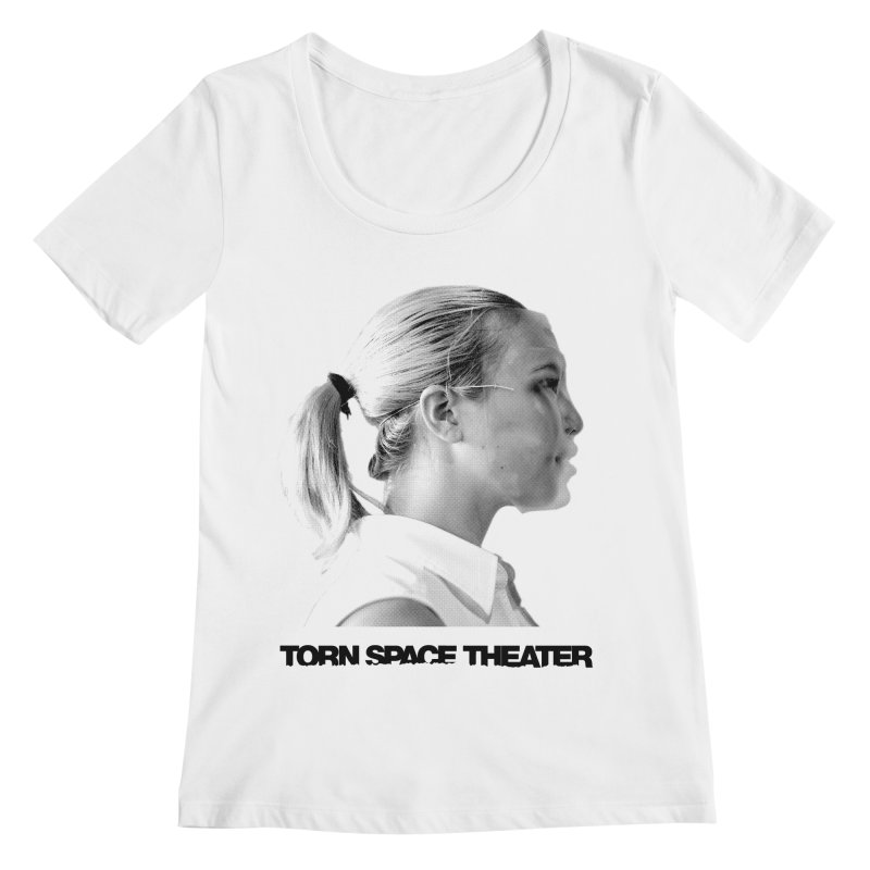 Athlete Women's Regular Scoop Neck by Torn Space Theater's Artist Shop