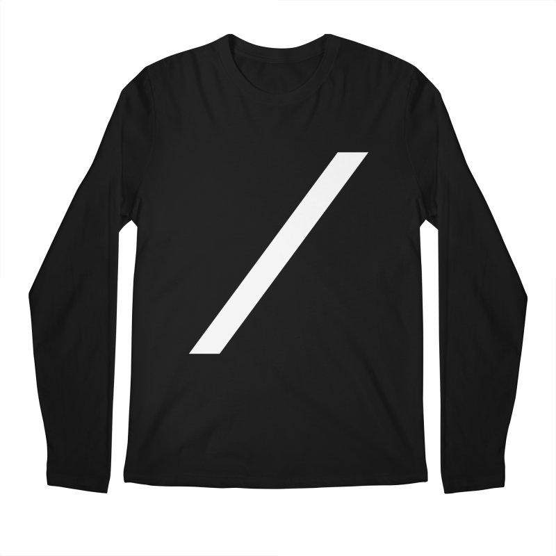 Slash - White Men's Longsleeve T-Shirt by Torn Space Theater Merch