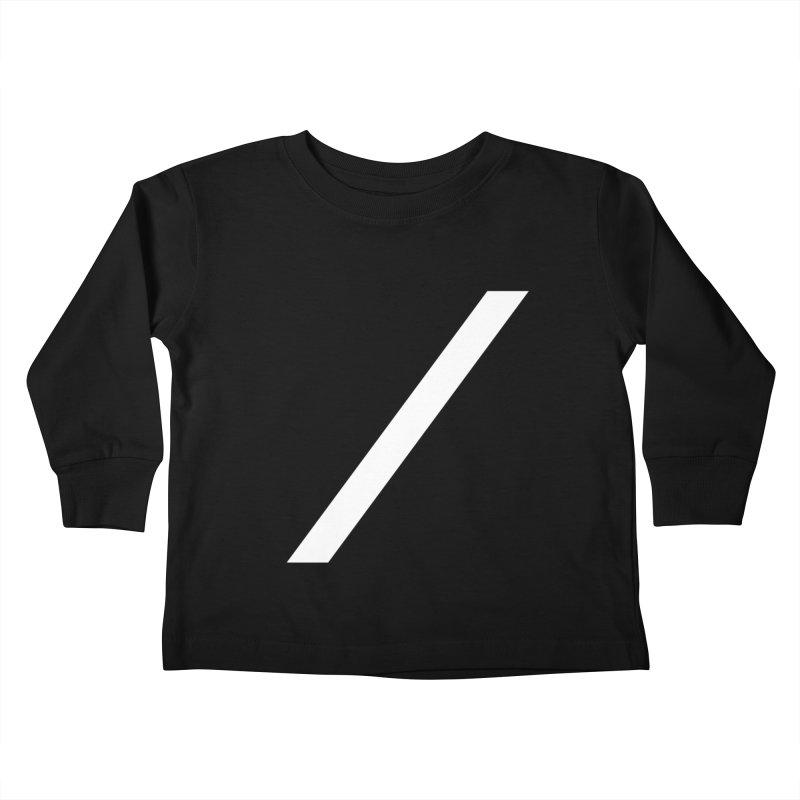 Slash - White Kids Toddler Longsleeve T-Shirt by Torn Space Theater Merch