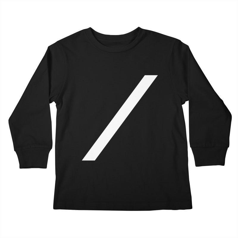 Slash - White Kids Longsleeve T-Shirt by Torn Space Theater Merch
