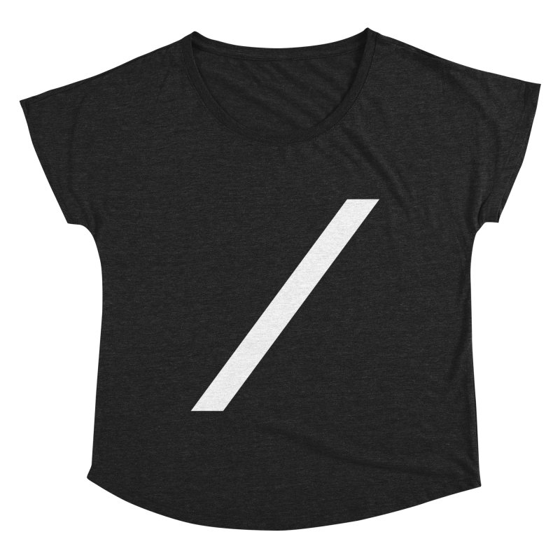Slash - White Women's Scoop Neck by Torn Space Theater Merch