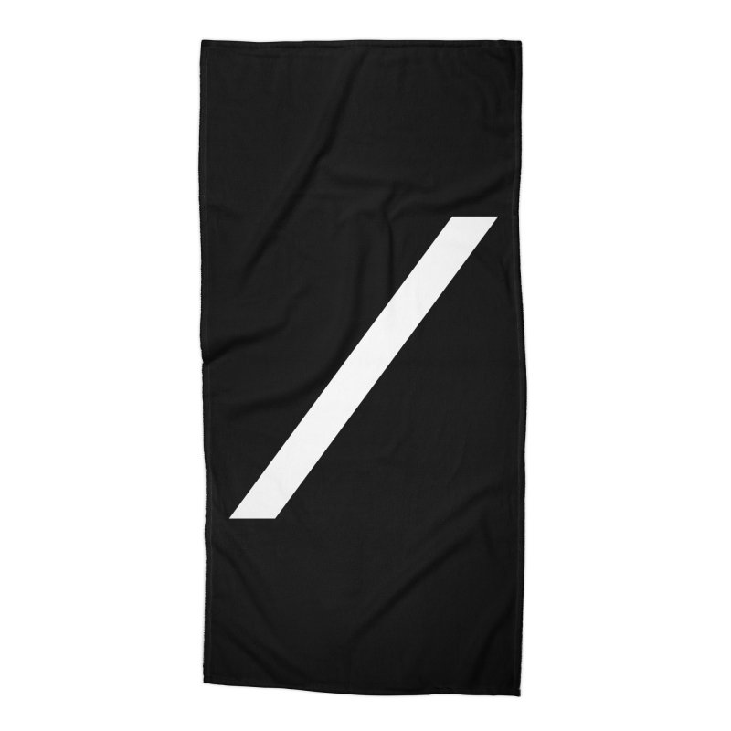 Slash - White Accessories Beach Towel by Torn Space Theater Merch