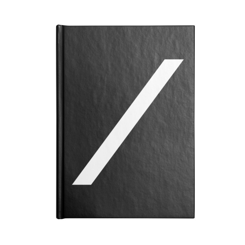 Slash - White Accessories Notebook by Torn Space Theater Merch
