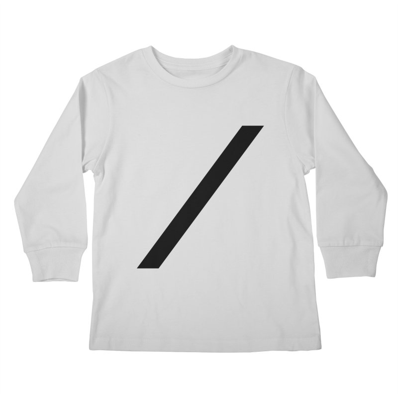 Slash - Black Kids Longsleeve T-Shirt by Torn Space Theater Merch
