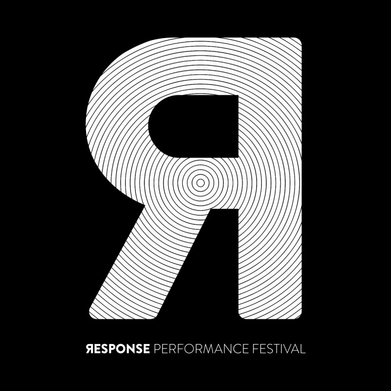 Response Performance Festival - white logo Kids T-Shirt by Torn Space Theater Merch